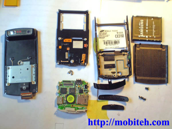 disassemble Samsung u600