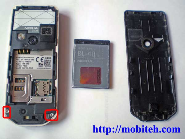 disassemble Nokia 7500